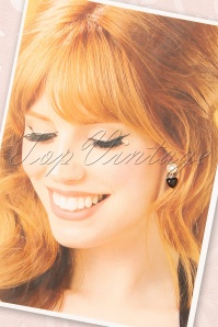 Sweet Cherry 33500 Earrings Pearl Black Roses 20200217 002W