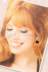 Sweet Cherry 33500 Earrings Pearl Black Heart 20200217 002W