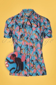 4FF 31799 Don't Turn Your Back On Me Blouse in Blue 20191129 0002Z