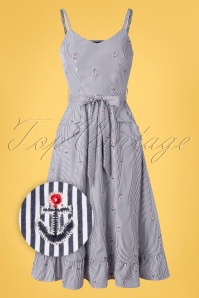 Vixen 32984 Swingdress Andy Anchor Blue Stripes 20200218 003Z