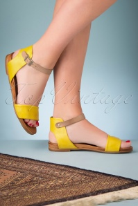 Miz Mooz 32065 Sandals Yellow Alanis 70s 200210 010 W