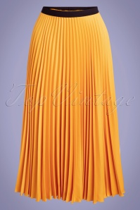 Closet London 50s Marilyn Pleated Skirt in Honey