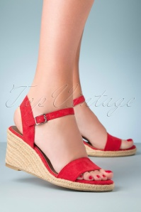 Tamaris 33559 Sandal Red Sleehak Wedges 200210 007 W