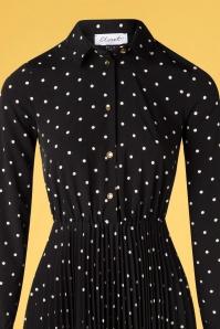 Closet 33814 Swingdress Black Pleate Polkadots 200218 004V
