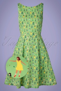 Cissi och Selma 60s Saga Dance Dress in Green