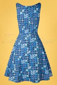 Cissi Selma 31416 Swindress Saga Proslin Floral Blue 200218 008W