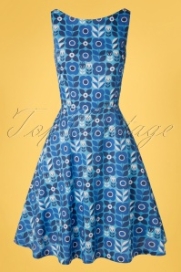 Cissi och Selma 60s Saga Proslin Dress in Blue