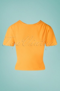 Miss Candyfloss 33295 Top Plain Yellow 200219 003W