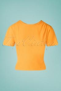 Miss Candyfloss 33295 Top Plain Yellow 200219 003W