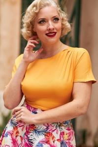 Miss Candyfloss 33295 Top Plain Yellow 200106 020L