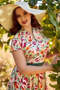 MissCandyfloss 33289 Mint Floral Swing Dress 021L