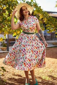 MissCandyfloss 33289 Mint Floral Swing Dress 020L