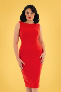 Hearts & Roses 32691 Pencil Dress Red 023L