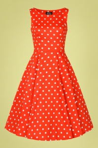 Hearts & Roses 32852 Red Polka Swing Dress 020LW