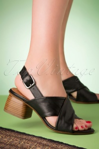 Miz Mooz 70s Natasha Sandals in Black