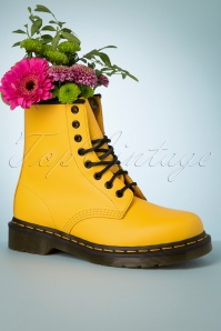 Dr. Martens 1460 Smooth Ankle Boots in Yellow