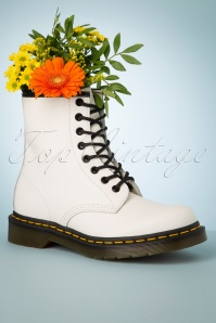 Dr. Martens 1460 Smooth Ankle Boots in White