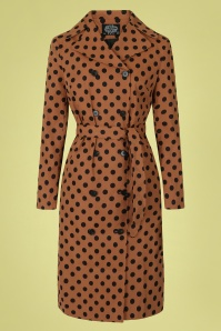 Hearts & Roses 32850 Brown Polkadot Trenchcoat 020LW