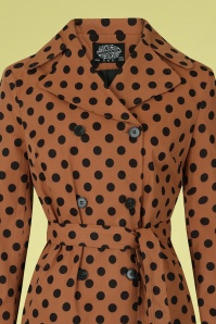 Hearts & Roses 32850 Brown Polkadot Trenchcoat 020LV