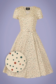 Hearts & Roses 32848 White Multi Polkadot Swing 020LZ