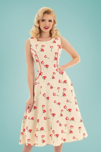 Hearts & Roses 32696 Cream Roses Swing 023L