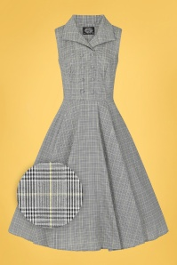 Hearts & Roses 32700 Black White Gingham Swing 020LZ
