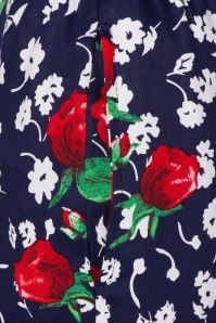 Hearts&Roses 32689 Blue Floral Red Blue Roses White Topvintage Exclusive Pants 200224 005
