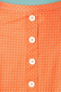 Verry Cherry 31508 Button A Line Skirt Denim Dots Orange20191223 003W
