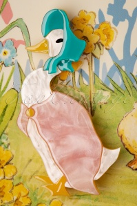 Erstwilder 33922 Jemima Pudding Duck Brooch Rabbit Peter Cute Brown Blue Pink 200225 004 W