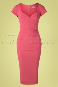 Vintage Chic for TopVintage 50s Violetta Pencil Dress in Rose Pink