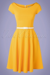 Vintage Chic for TopVintage 50s Arabella Swing Dress in Honey Yellow