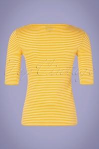 Mademoiselle Yeye 31960 One Step Ahead Yellow Striped Top Shirt 200224 007W
