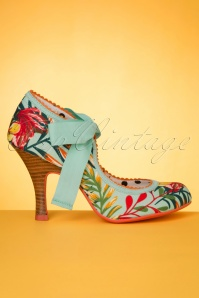 Ruby Shoo 31472 Willow Aqua Heels Bow Red Yellow 200218 003W