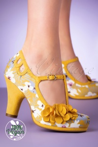 Ruby Shoo 50s Valerie Pumps in Ochre