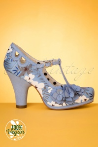 Ruby Shoo 50s Valerie Pumps in Sky Blue