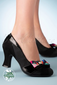 Ruby Shoo 50s Tatum Bow Pumps in Black