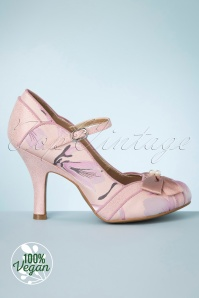 Ruby Shoo 50s Cleo Pumps in Soft Pink