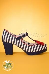 Ruby Shoo 31465 Jazz Navy Blue Stripe 02 004Wv