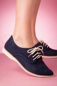 Rollie Shoes 31392 Derby Punch French Dark Blue 200220 013 W