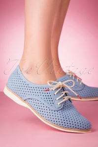 Rollie Shoes 31391 Derby Punch Corn Flo Blue 200220 005 W