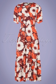 Mademoiselle Yeye 31953 Maxidress Powl Red Flowers 200226 004 W