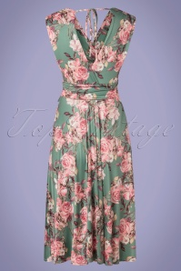 Vintage Chic 33482 Swingdress Green Pink Floral 200226 014 W