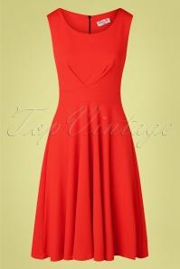 Vintage Chic 33355 Swingdress Sleeveless Firered 200226 002 W