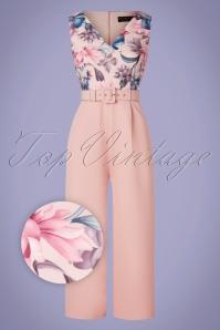 Paperdolls 32545 Jumpsuit Floral Pink 200226 003Z