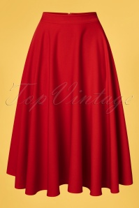 Vixen 32992 Rosie Flared Midi Skirt Red 200227 005W