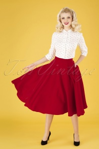 Vixen 32992 Rosie Flared Midi Skirt Red 191115 040MW