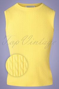 Compania Fantastica 60s Amarillo Knitted Top in Citrus Yellow