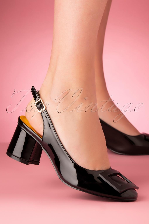 60s Dresses & 60s Style Dresses UK 60s Arcadia Patent Pumps in Black £47.06 AT vintagedancer.com