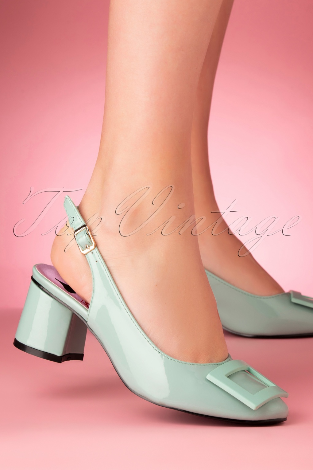 60s Fancy Dress and Quality Clothing 1960s UK 60s Arcadia Patent Pumps in Mint £24.95 AT vintagedancer.com