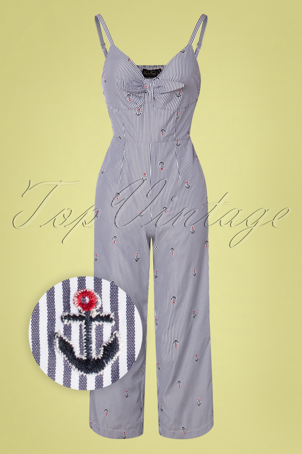 Vintage Overalls 1910s -1950s History & Shop Overalls 50s Andy Anchor Jumpsuit in Blue £62.45 AT vintagedancer.com